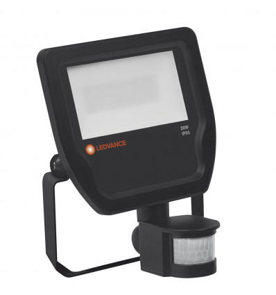 FLOODLIGHT 20W 3000K BK 100DEG S IP65